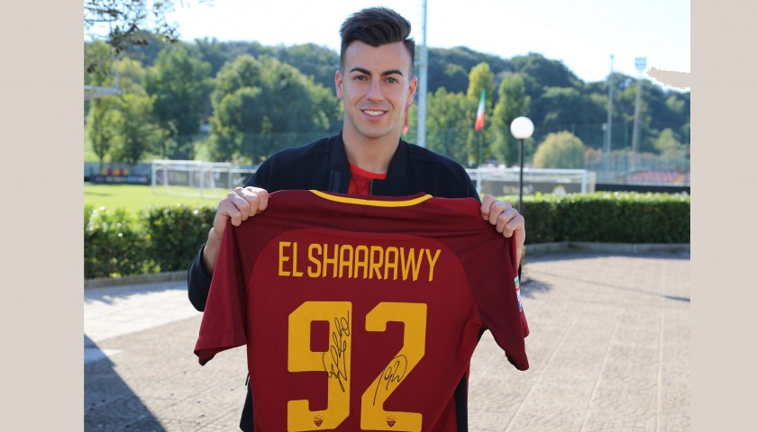 El Shaarawy's Match-Issued and Signed Roma Shirt, 2017/18 ...