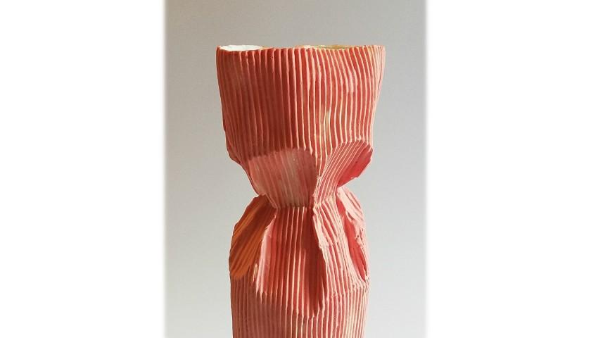 """Paper Rolls"" Vase by Luciana Grazia Menegazzi"