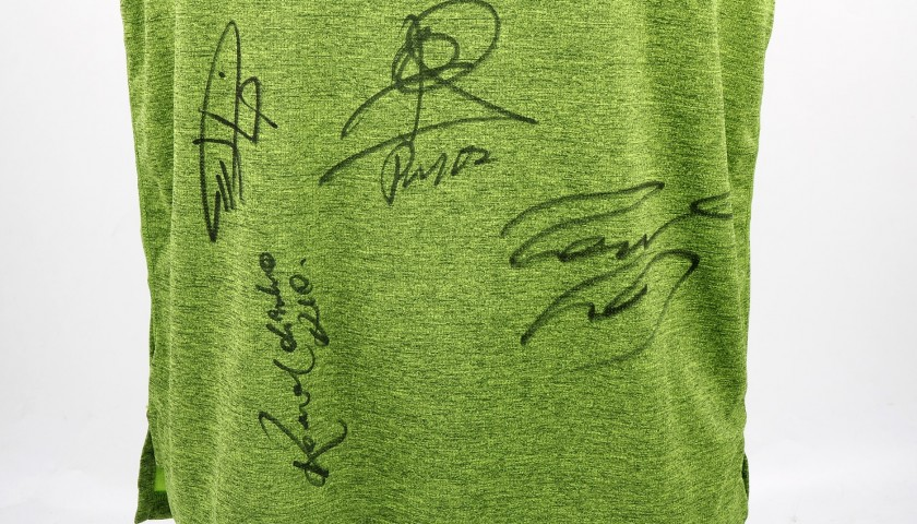 Adidas Victorious T-Shirt Signed by Football Legends