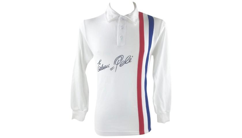 """Pele's """"Escape To Victory"""" Signed Retro Shirt"""