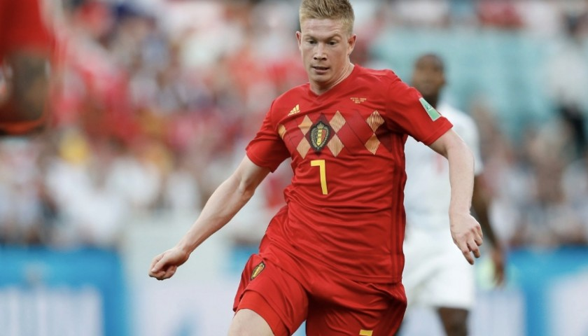 2018 FIFA World Cup Kevin De Bruyne Signed Belgium Shirt