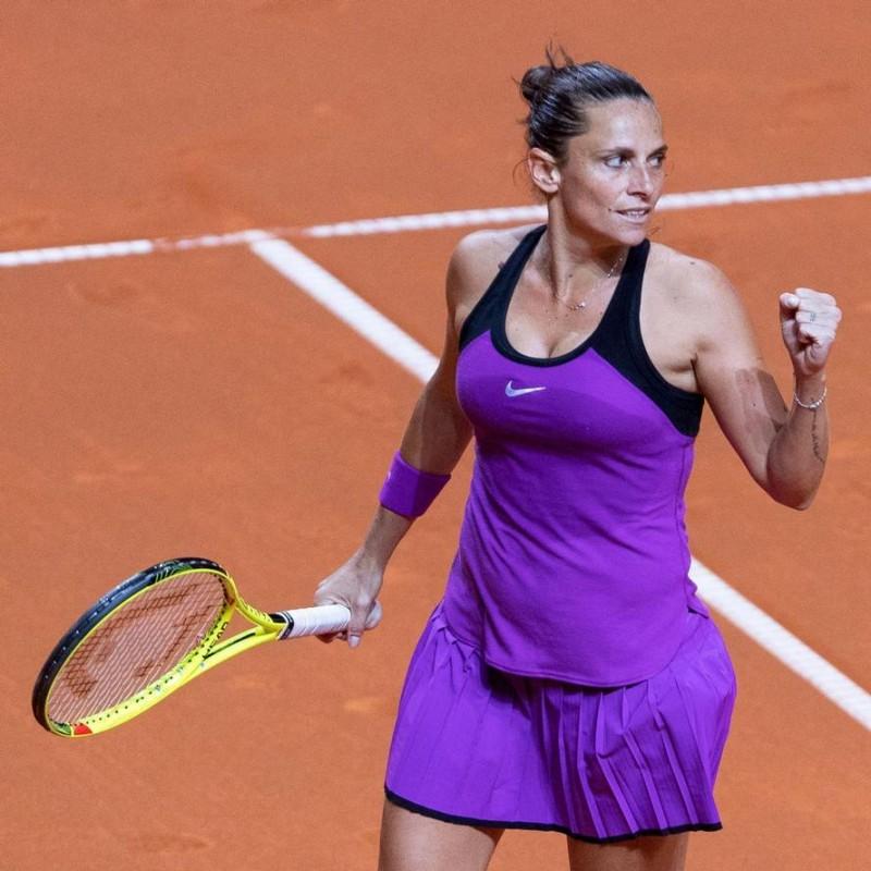 Roberta Vinci Match Worn Shirt, Internazionali d'Italia - Signed