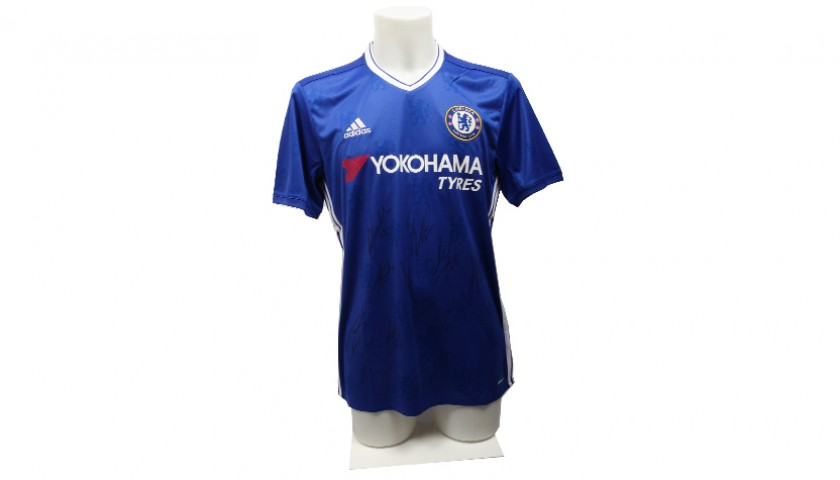 Auction Chelsea FC 2016 2017 Season Home Shirt Signed by Players cf4a363c1