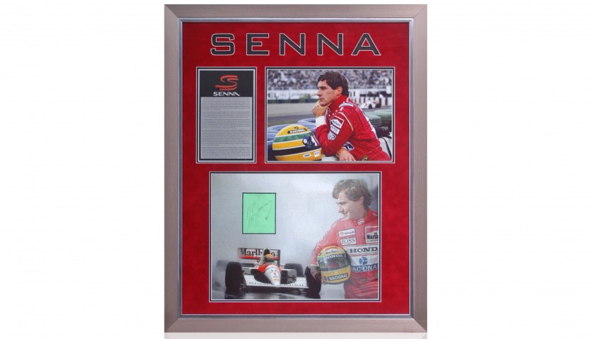 Ayrton Senna Hand Signed Formula 1 Presentation