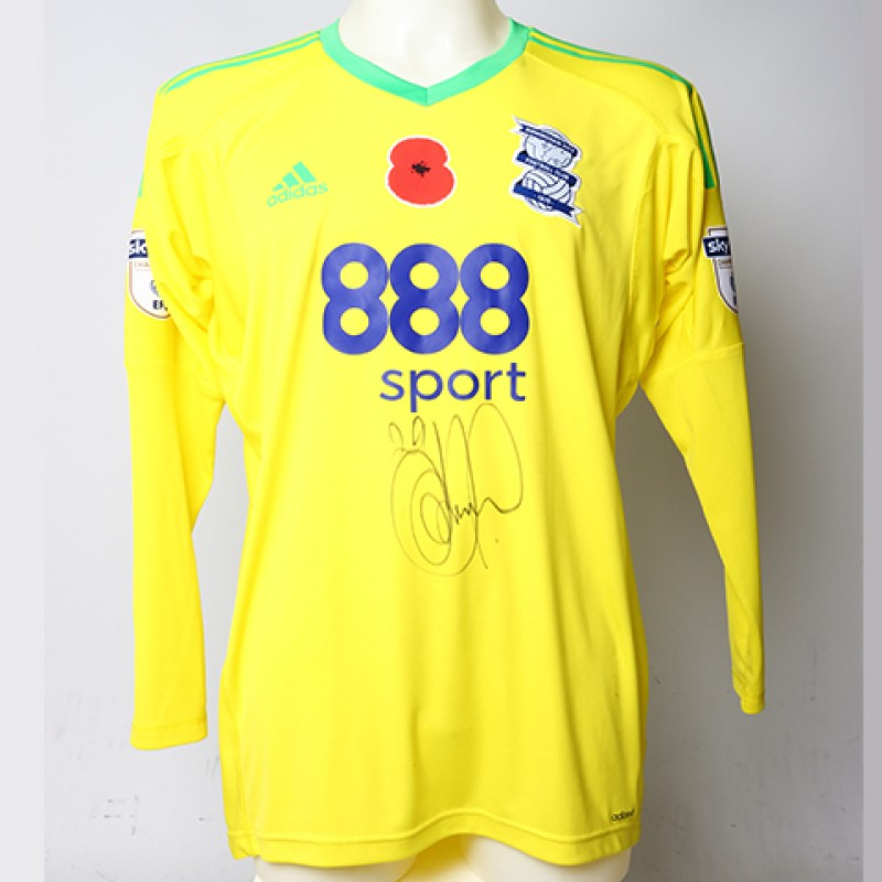 Poppy Shirt Signed by Birmingham City FC's Tomasz Kuszczak