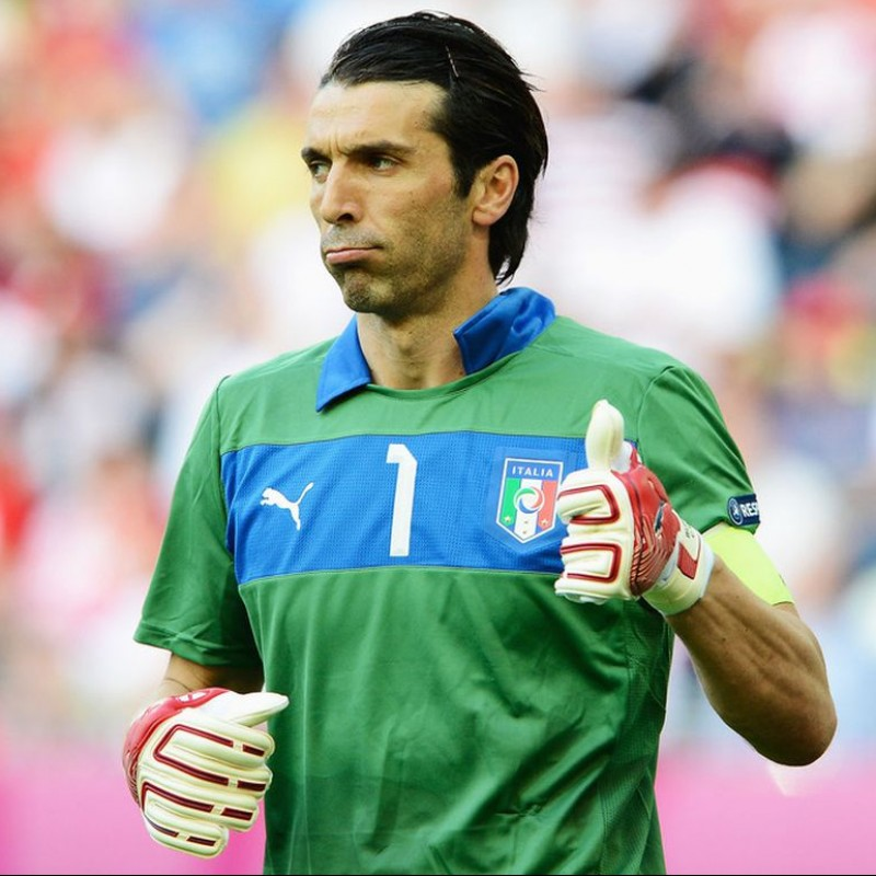 Buffon's Italy Match Shirt, Euro 2012 Final