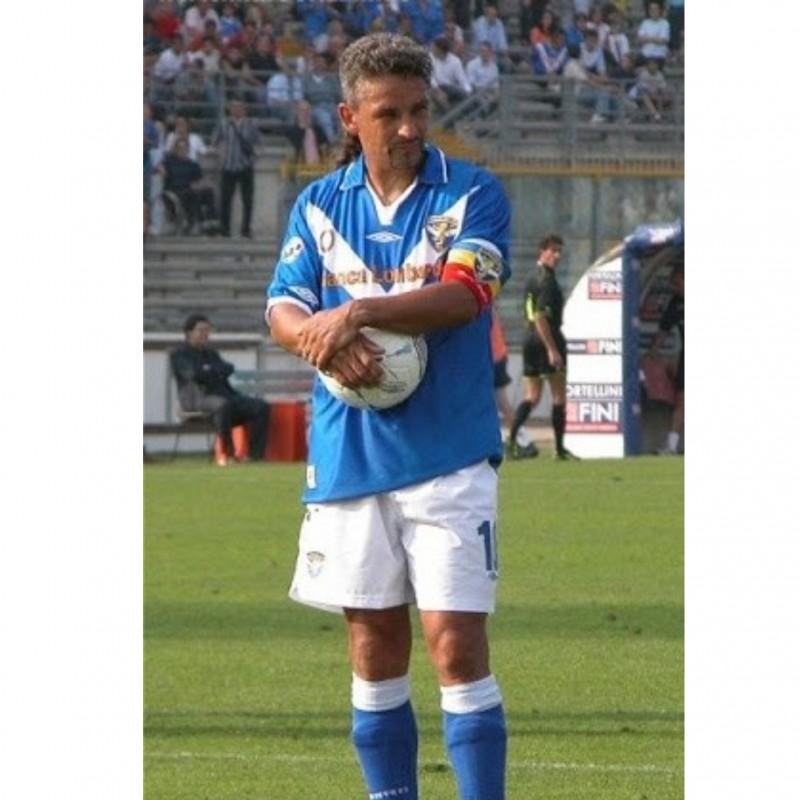 Baggio's Brescia Worn and Signed Shirt, 2003/04