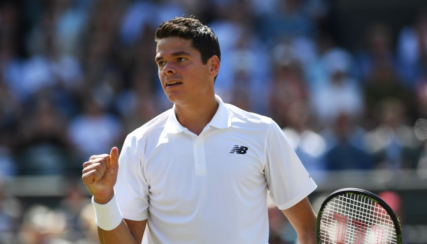 Attend a tennis training session with Milos Raonic, n° 3 ATP ranking