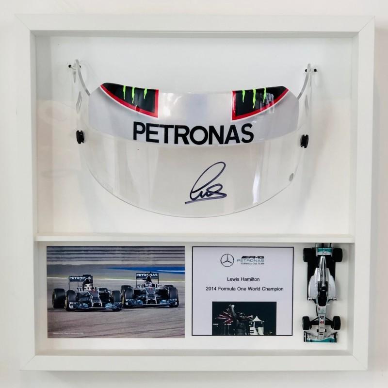 Lewis Hamilton Signed Visor Display