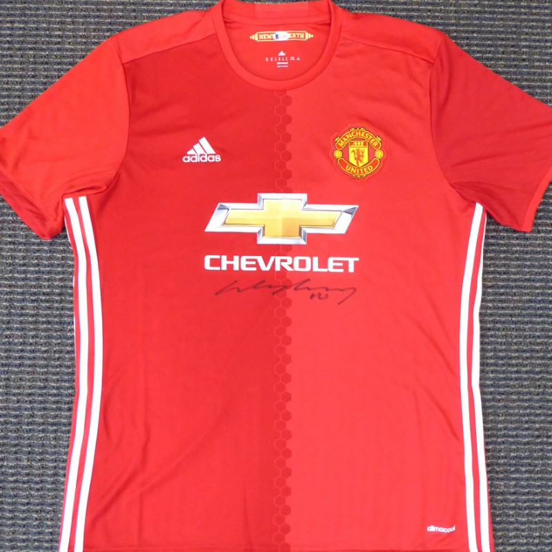 Wayne Rooney Hand Signed Manchester United Jersey