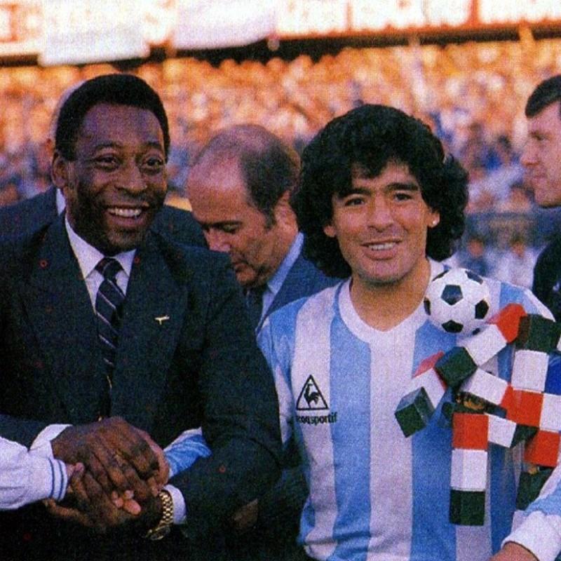 Maradona's Worn Shirt, Italy-Argentina 1987