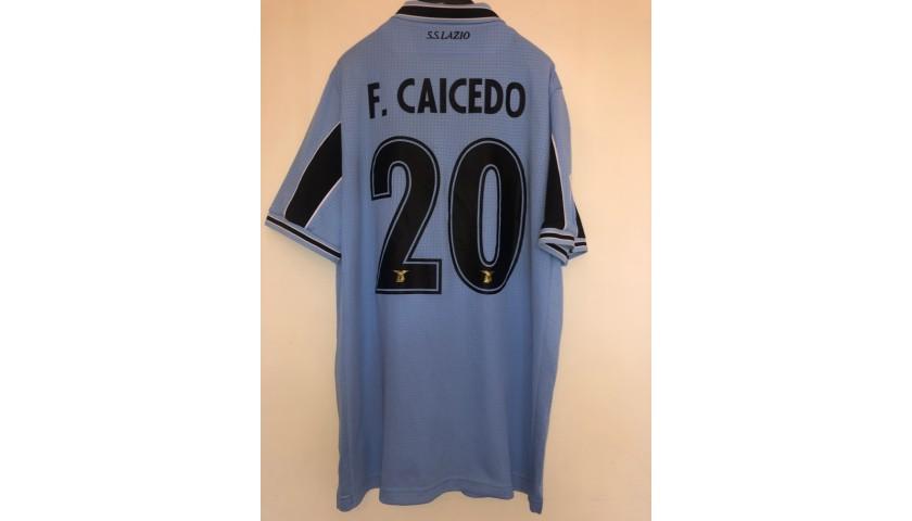 Caicedo's Lazio Match Shirt, Serie A 2019/20 - CharityStars