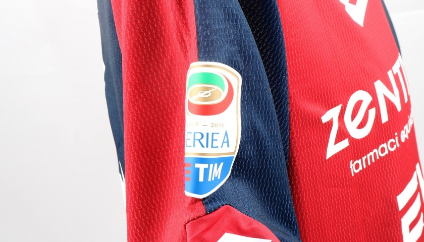 Lazovic's UNWASHED Special Genoa-Sampdoria Match-Worn Shirt
