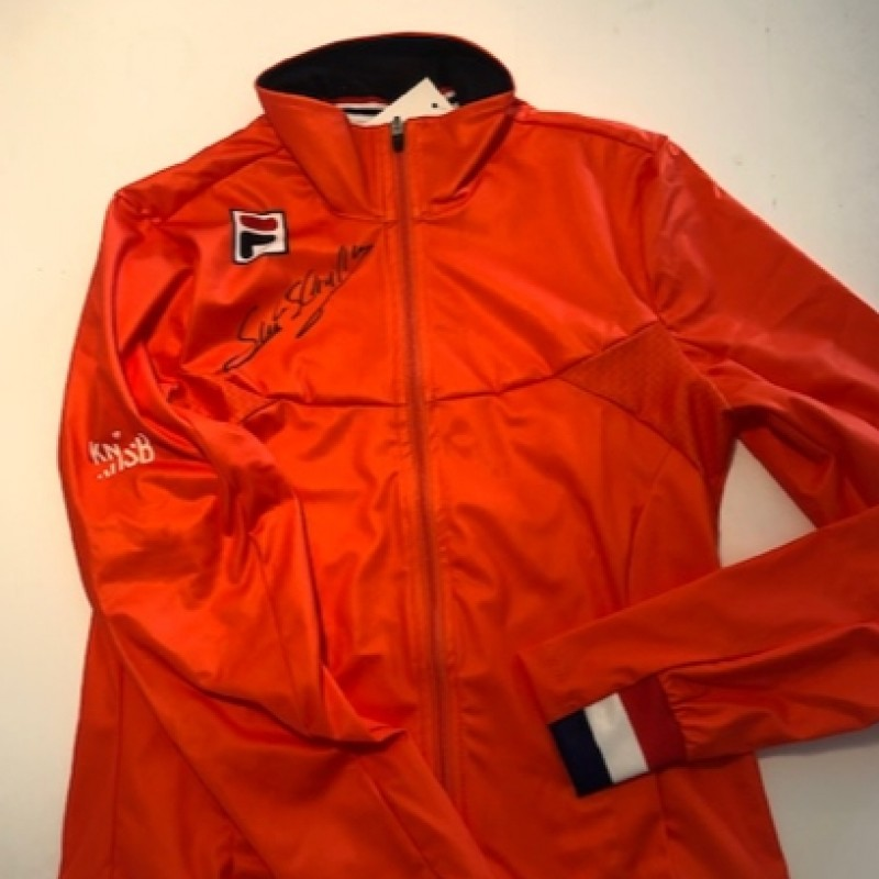 Suzanne Schulting Signed Official Track Jacket KNSB, European Champion Shorttrack Ice-skating 2021