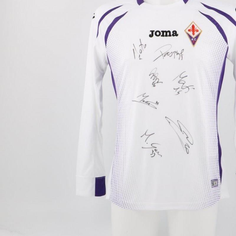 AC Fiorentina official replica shirt signed by players
