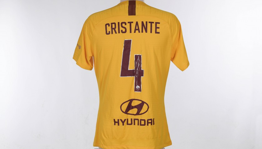 Cristante's Worn Shirt, Spal-Roma - Special Giuliano Taccola