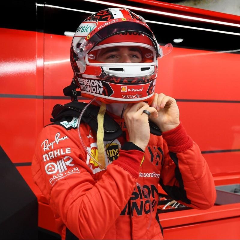 Ferrari 2020 Mini Helmet - Signed by Charles Leclerc