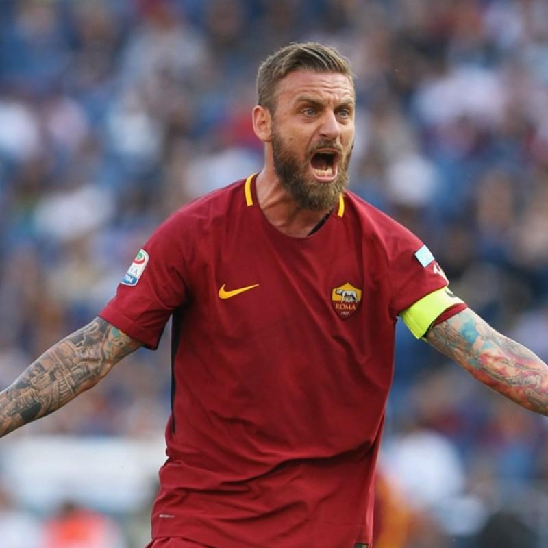De Rossi's Signed Authentic Roma Shirt, 2017/18