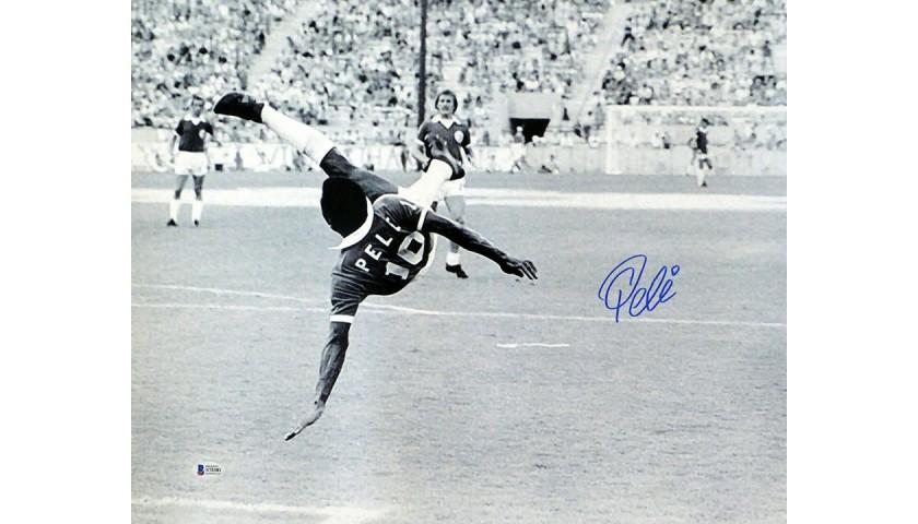 Pelé Signed New York Cosmos Photograph