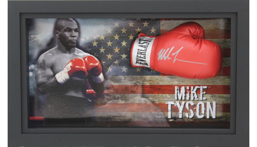 Mike Tyson Signed Boxing Glove Display