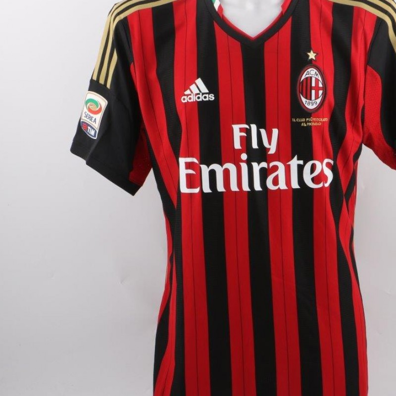 Balotelli Milan shirt, issued/worn Serie A 2013/2014