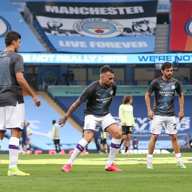 Cityzens Giving for Recovery Match Issued Shirt Signed by Nicolás Otamendi