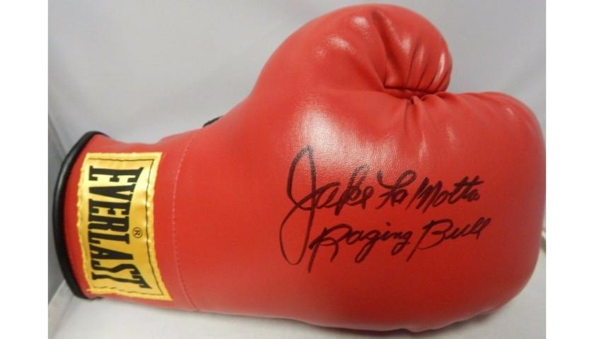 Jake LaMotta Hand Signed Boxing Glove