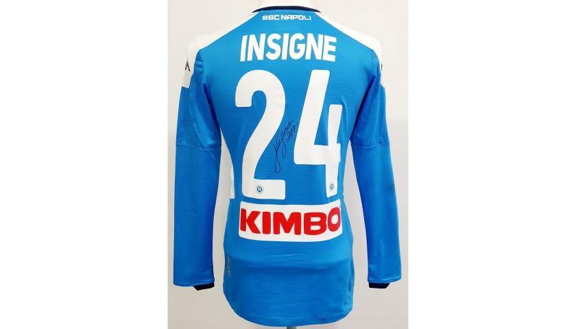 Insigne's Napoli Worn and Signed Match Shirt, Coppa Italia 2019/20