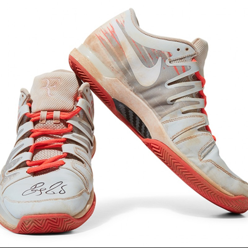 Roger Federer Signed Shoes