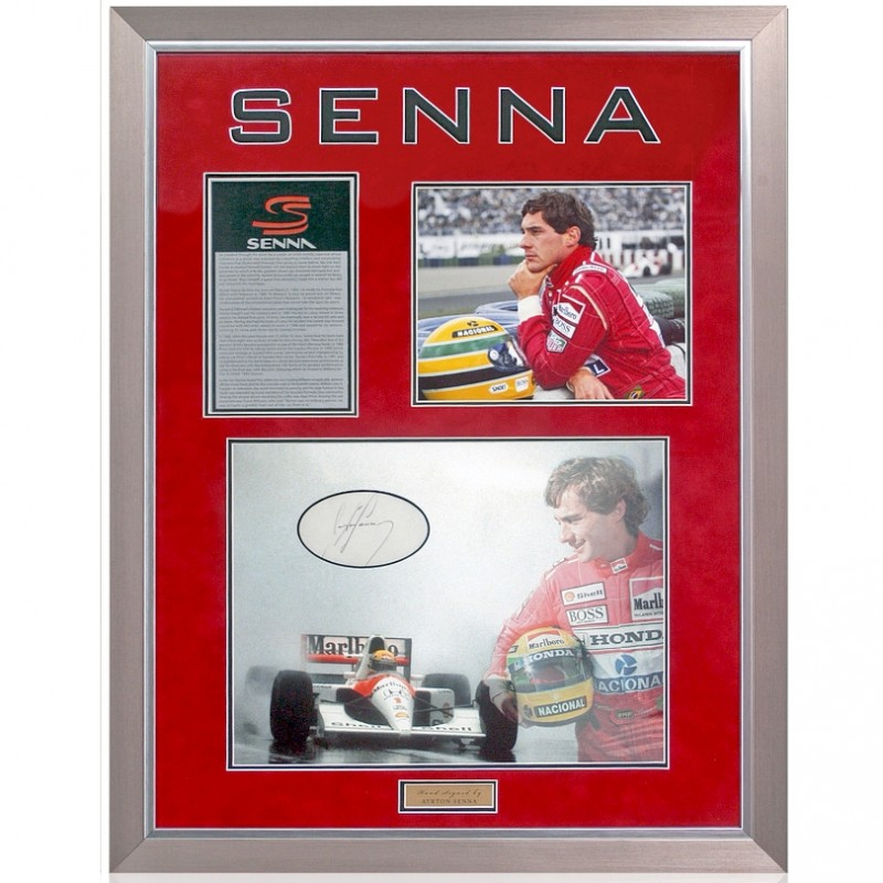 Ayrton Senna Hand Signed Formula 1 F1 Presentation