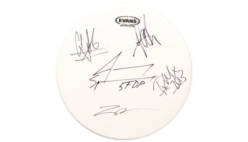 Signed 5 Finger Death Punch Drum Head