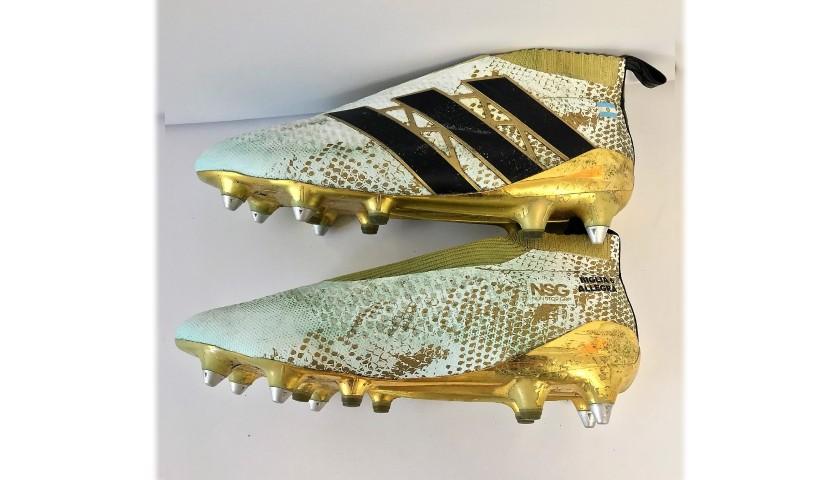 Biglia's Worn Adidas Boots, 2016/17
