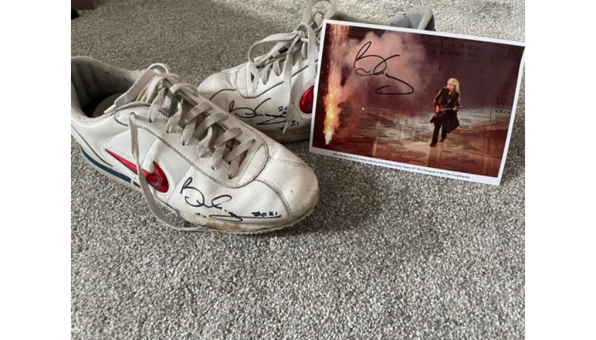 Signed Nike Trainers - Worn by Brian May, Queen