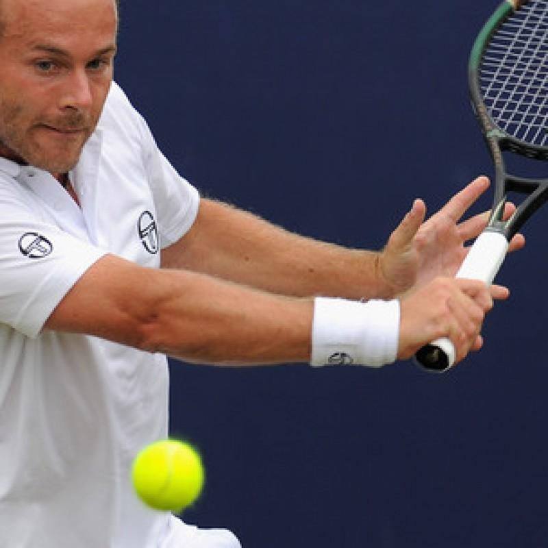 Olivier Rochus' tennis racquet