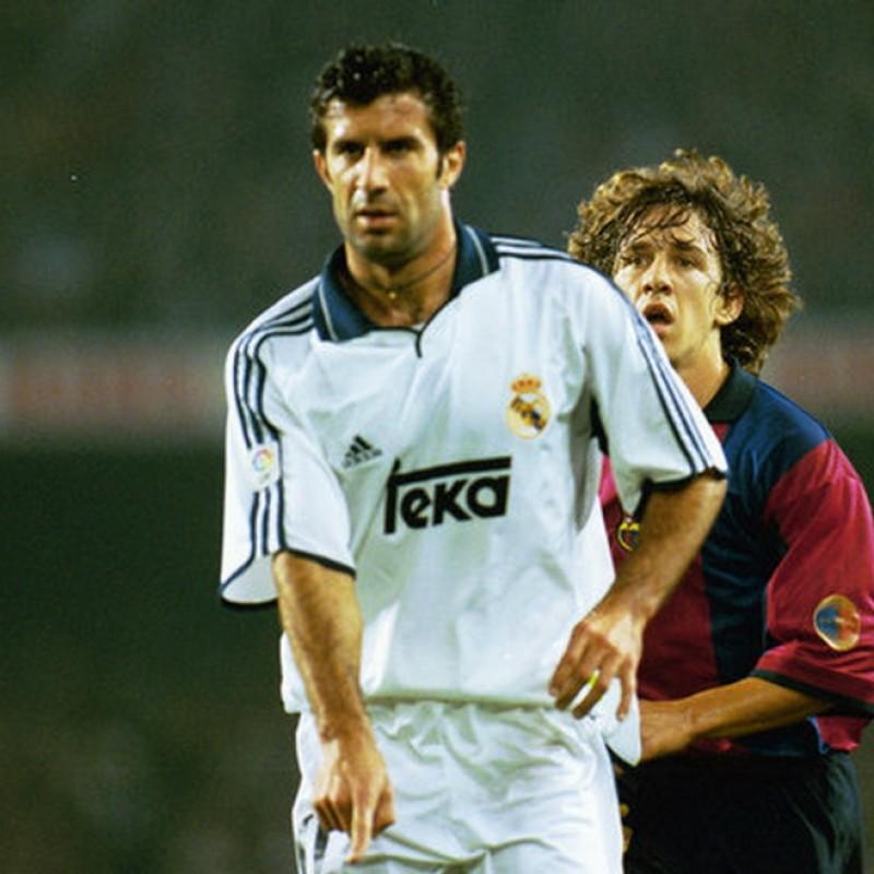 Figo's Official Real Madrid Signed Shirt, 2000/01