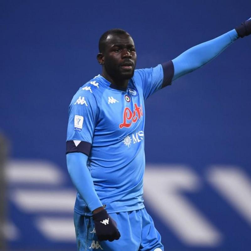 Koulibaly's Napoli Signed Match Shirt, Supercoppa 2021
