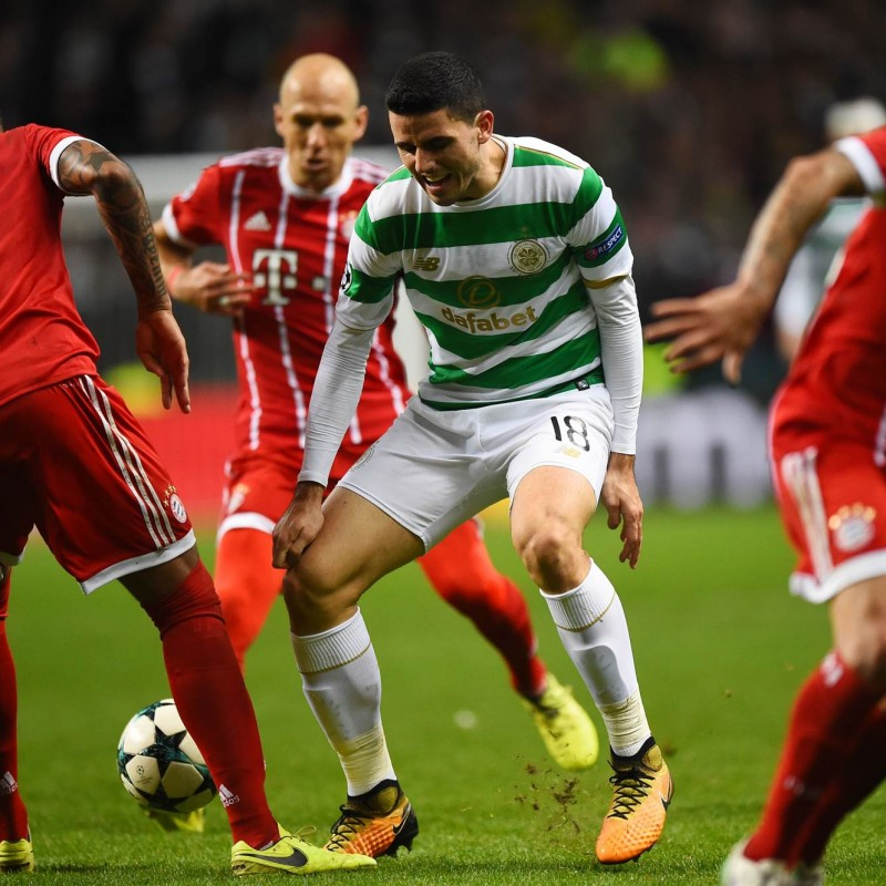 Tom Rogic Match Worn/Issued Celtic Football Shirt