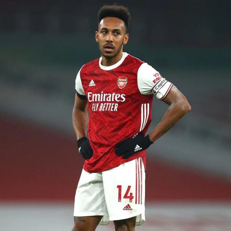 Aubameyang's Official Arsenal Signed Shirt, 2020/21