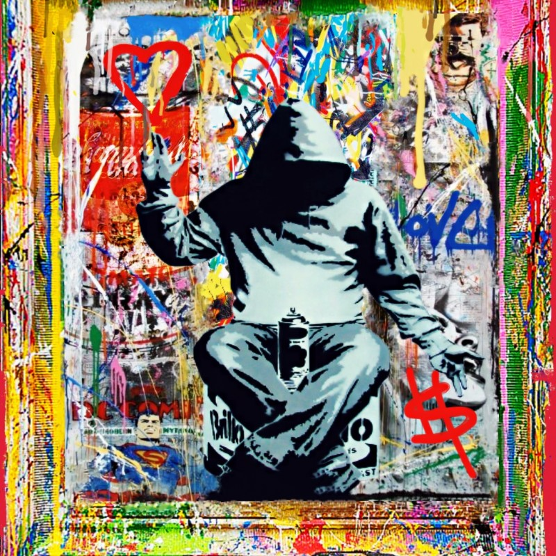 """Spray in the night vs Banksy"" by Mr Ogart"