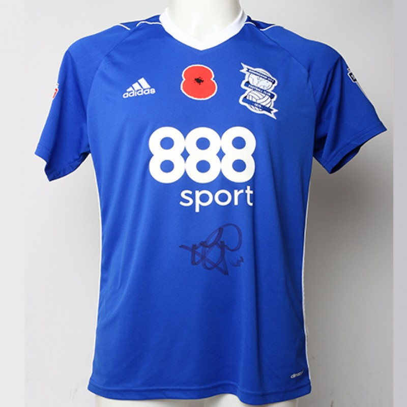 Poppy Shirt Signed by Birmingham City FC's Jonathan Grounds
