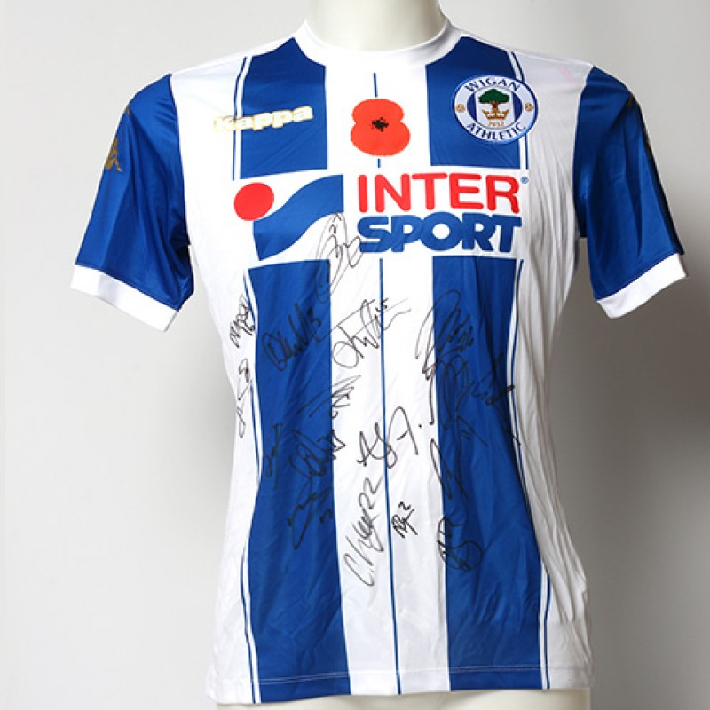 Poppy Shirt Signed by Wigan Athletic F.C.