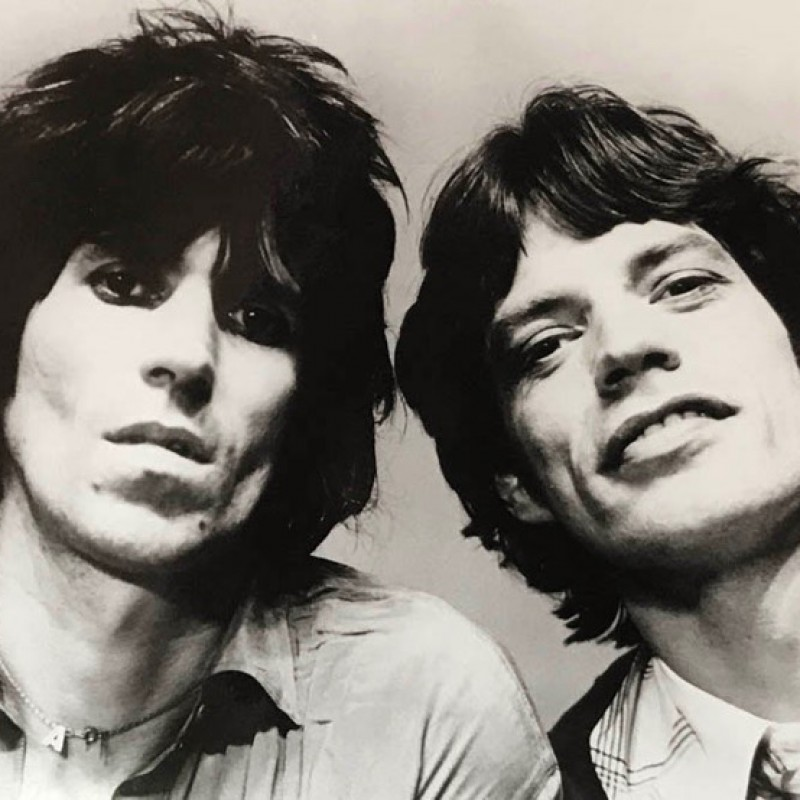 """Mick Jagger and Keith Richards"" by Michael Putland"