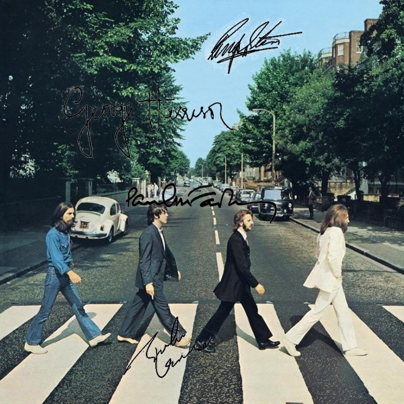 "The Beatles ""Abbey Road"" Album with Printed Signatures"