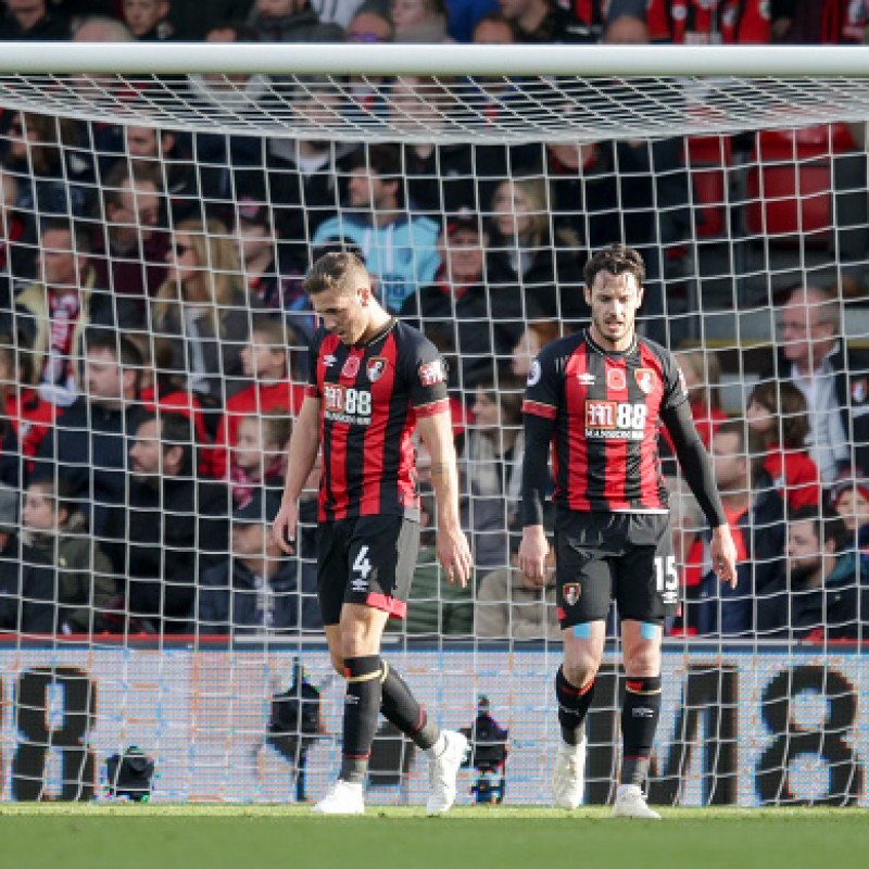 Gosling's AFC Bournemouth Worn and Signed Poppy Shirt
