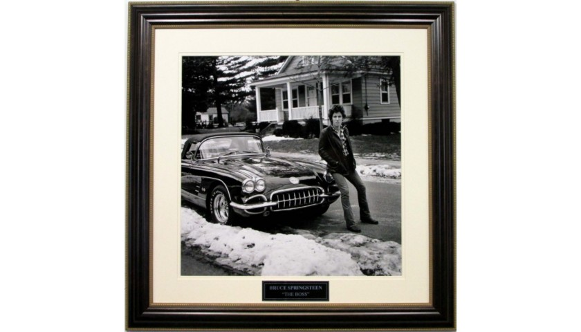 "Bruce Springsteen ""First Corvette"" Vintage Photograph"