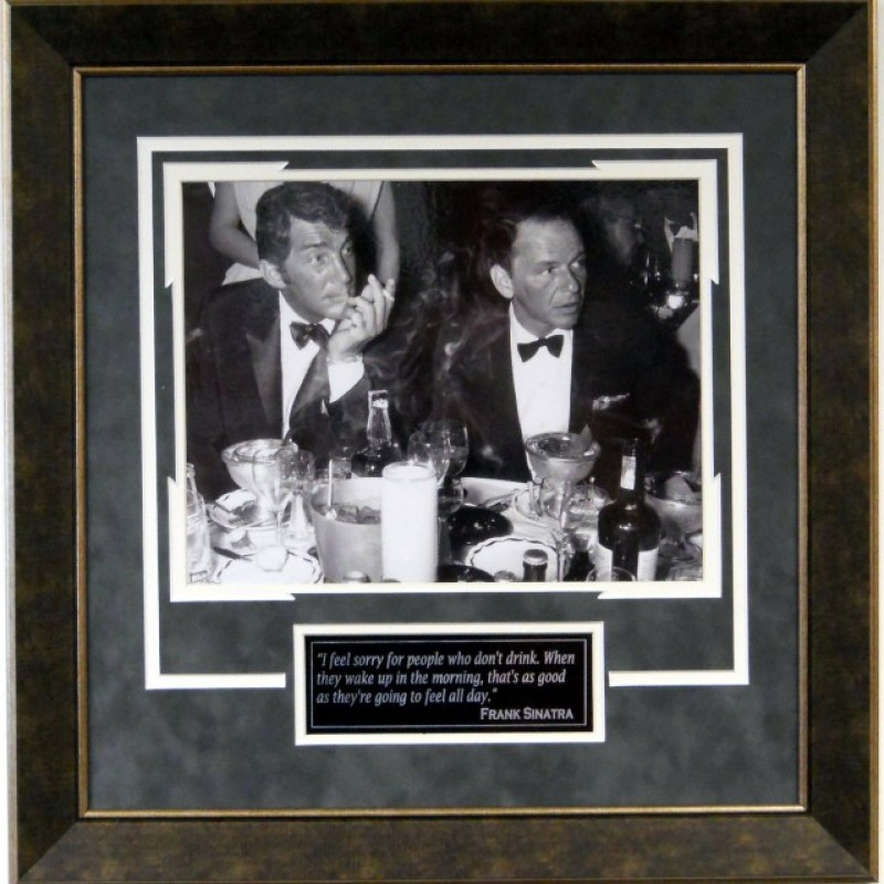 """""""Drinking Buddies"""" Vintage Photograph of Frank Sinatra and Dean Martin"""
