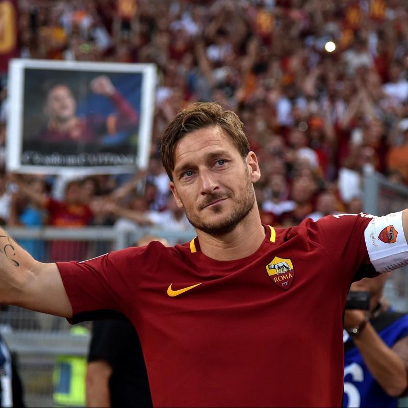 Totti's Ufficiale Roma Signed Shirt, Last Match