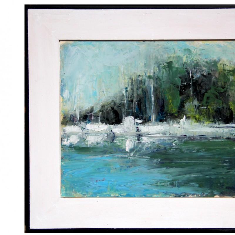 """""""Fermo"""" - oil on canvas by Vito Stramaglia - 28x22 cm"""