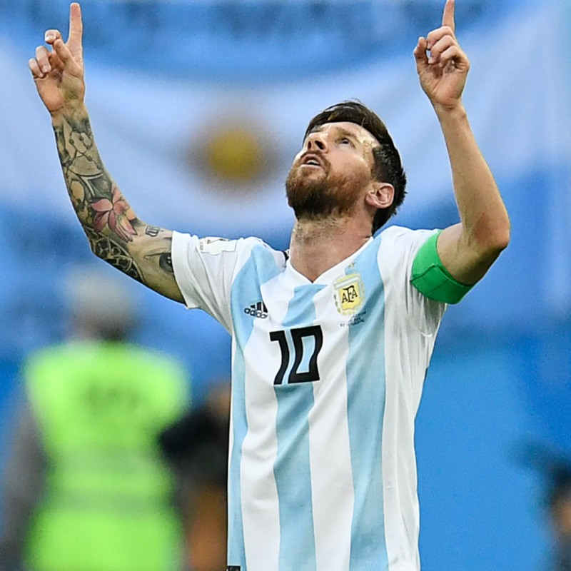 Messi Argentina National Team Signed Jersey