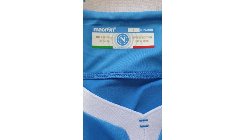 Mertens' Match-Issued Signed Shirt, Napoli-Fiorentina TIM Cup 2014